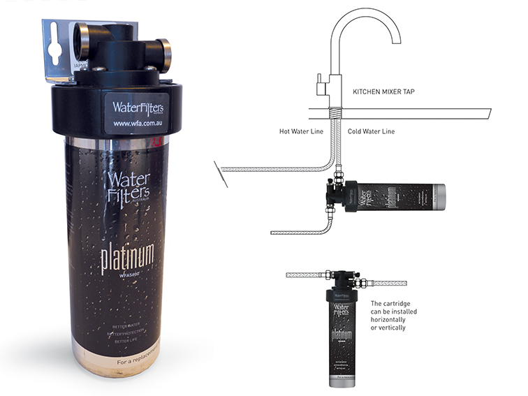 Inline Filtration System : Wfa inline water filter system filters australia