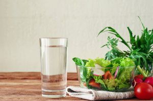 Veggies and a glass of water