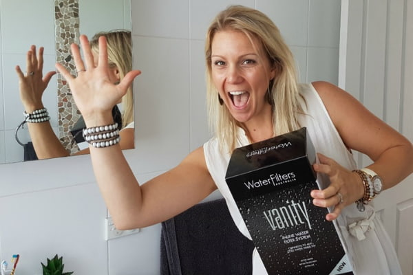 Vanity bathroom water filter put to the test