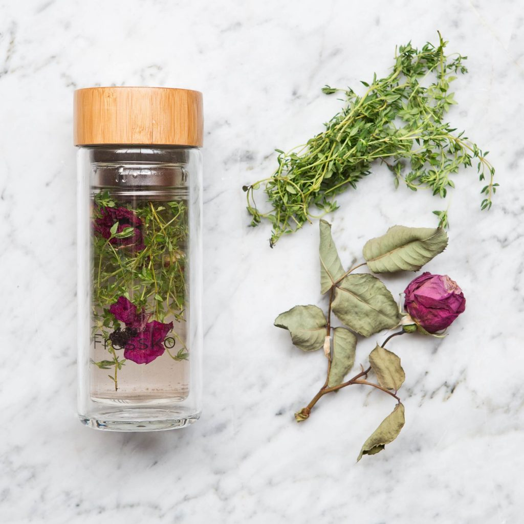 Rose & Thyme Water for Sore Throats and Mood Boosting