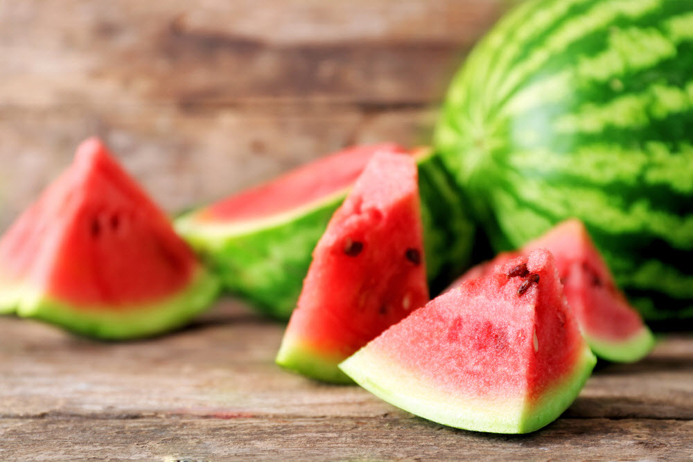 Summer drink idea - watermelon, basil and lime fruit-infused water