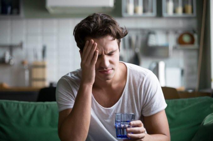 The symptoms of winter dehydration