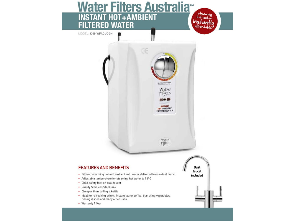 The Duo hot and cold water dispenser