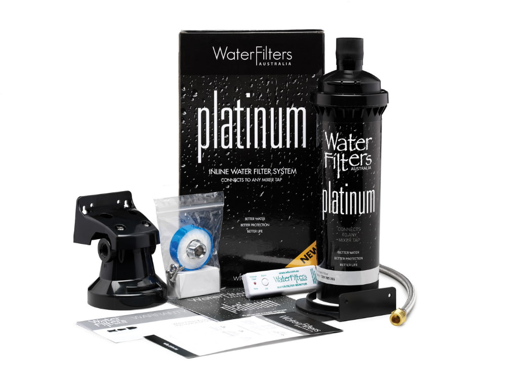 The Platinum inline water filter system